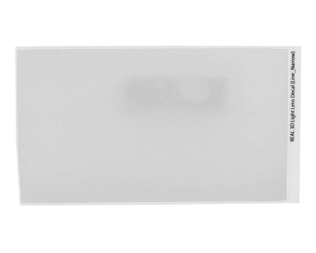 WRAP-UP NEXT REAL 3D Light Lens Decal (Clear) (Line-Narrow) (130x75mm)