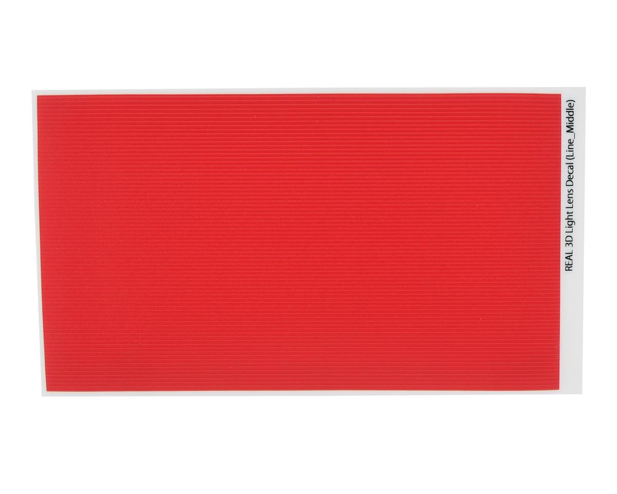 WRAP-UP NEXT REAL 3D Light Lens Decal (Red) (Line-Middle) (130x75mm)