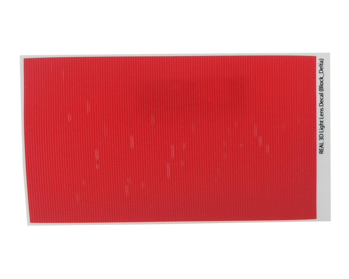 WRAP-UP NEXT REAL 3D Light Lens Decal (Red) (Block-Delta) (130x75mm)