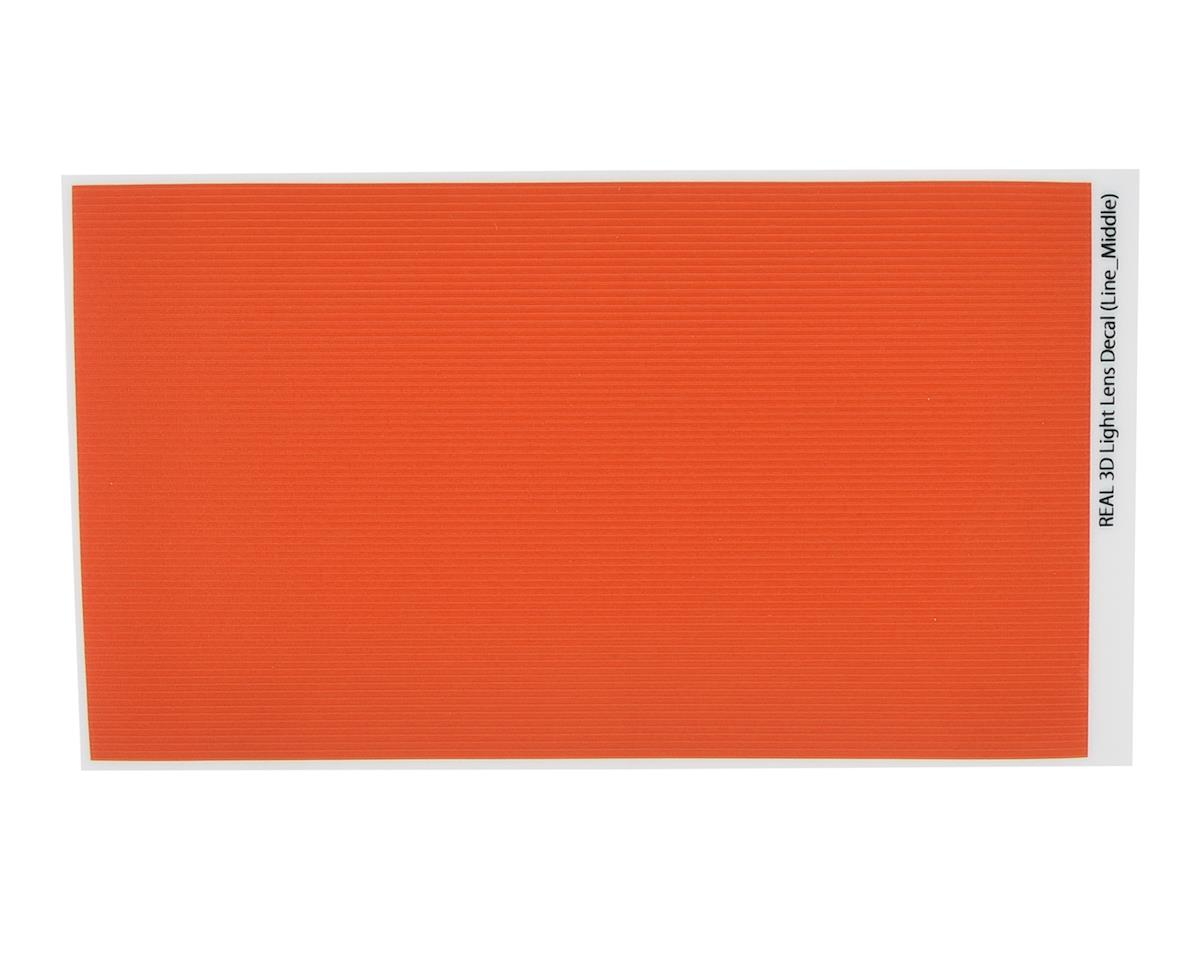 WRAP-UP NEXT REAL 3D Light Lens Decal (Orange ) (Line-Middle) (130x75mm)