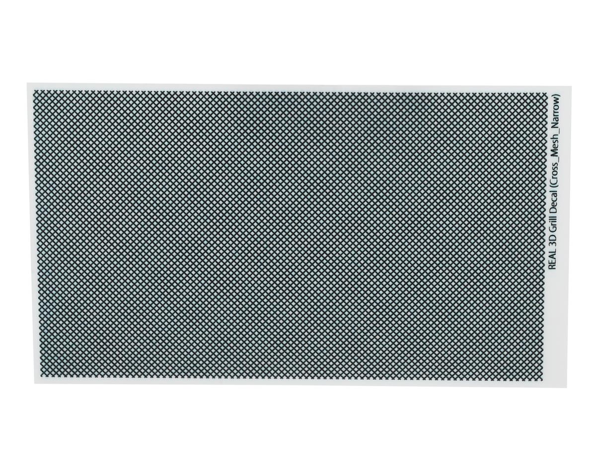 WRAP-UP NEXT REAL 3D Grill Decal (Black) (Cross-Mesh/Thin) (130x75mm)