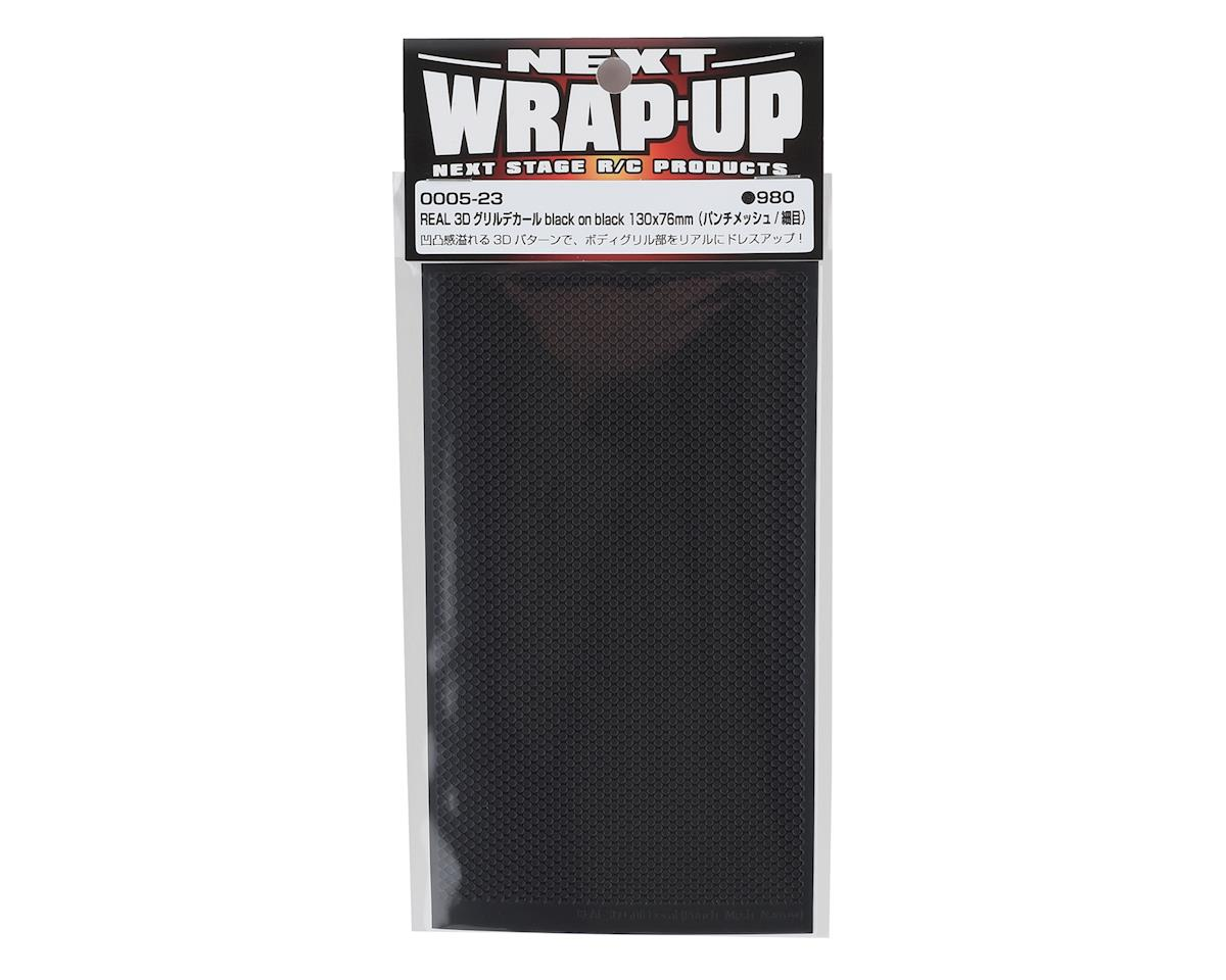 WRAP-UP NEXT REAL 3D Grill Decal (Black/Black) (Punch-Mesh-Thin) (130x75mm)
