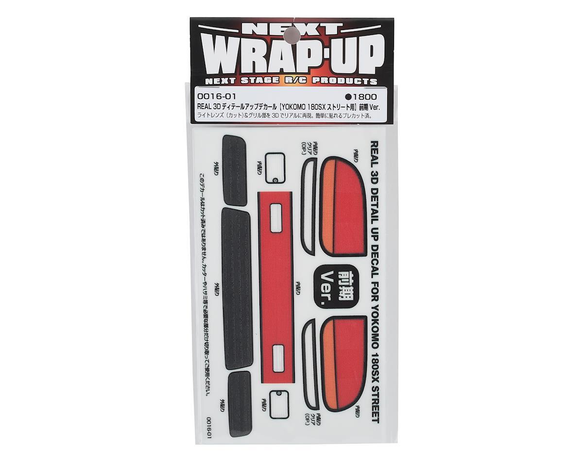 WRAP-UP NEXT REAL 3D Detail Up Decal (Yokomo 180SX Street) (Style 1- Zenki)