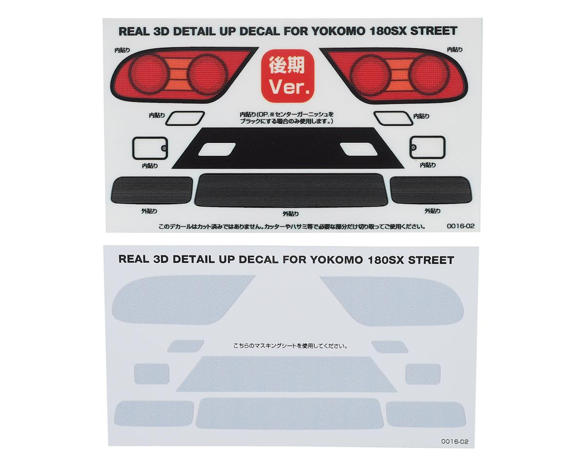 WRAP-UP NEXT REAL 3D Detail Up Decal (Yokomo 180SX Street) (Style 2- Kouki)