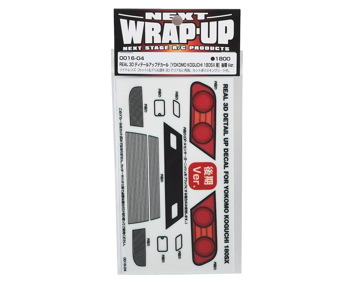 WRAP-UP NEXT REAL 3D Detail Up Decal (Yokomo Koguchi 180SX) (Style 2- Kouki)