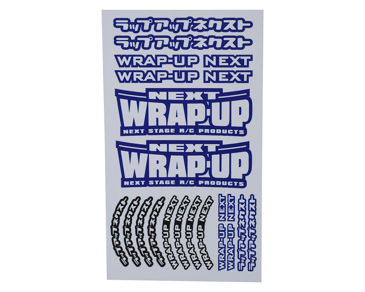 WRAP-UP NEXT Logo Tire Sticker (Blue) (Type-A) (140x80mm)