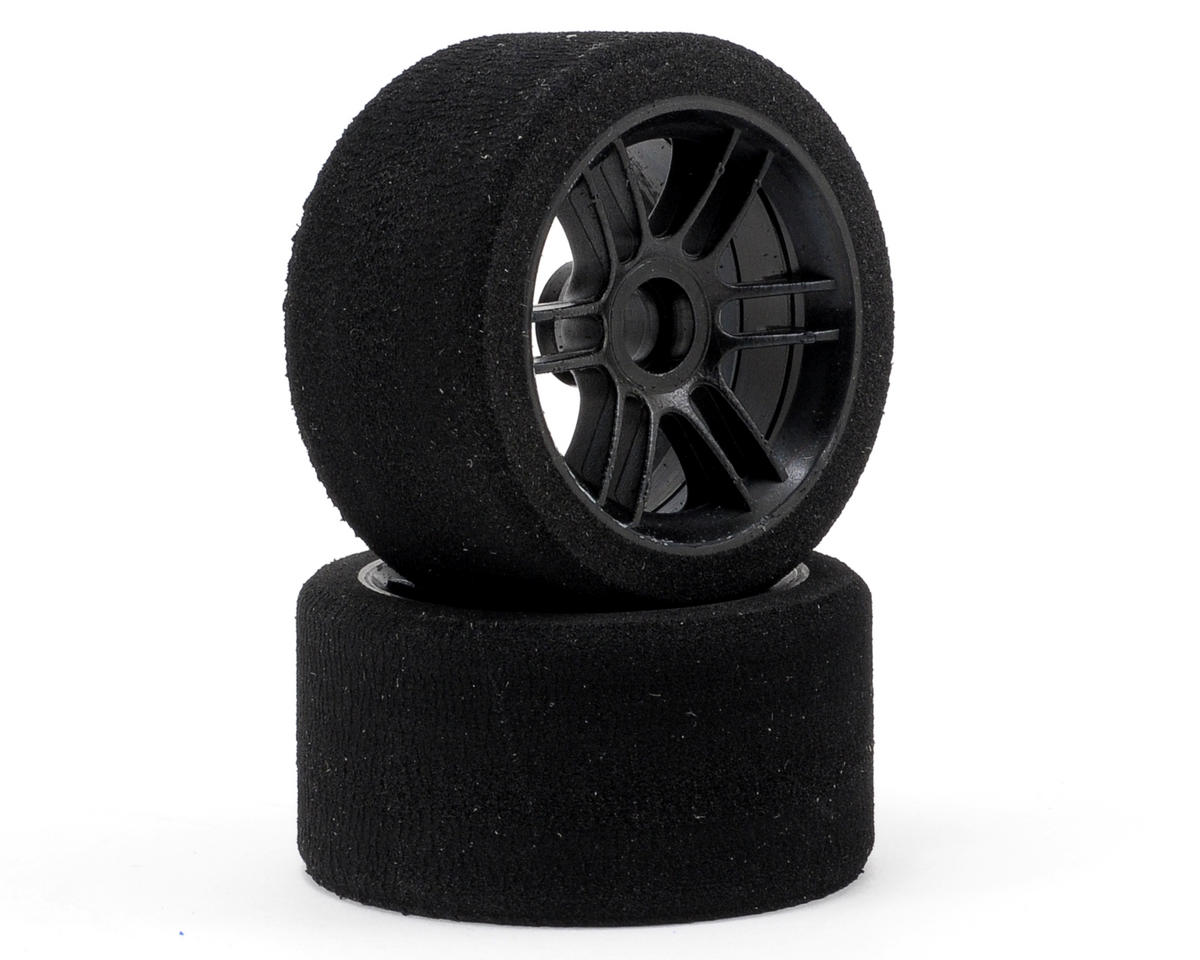 "Xceed RC ""Enneti"" 1/12 Carbon Front Tires (2) (Carbon Black) (40 Shore)"