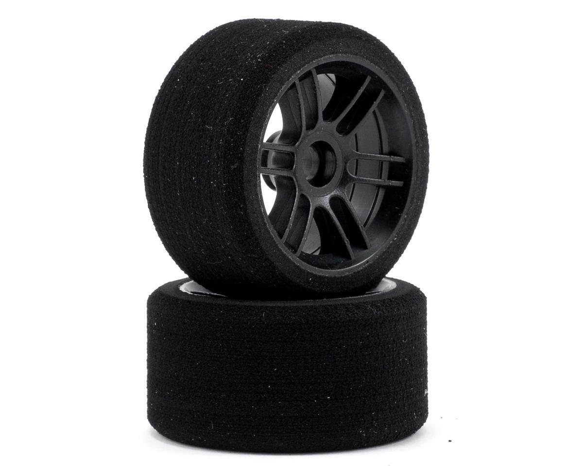 """Xceed RC """"Enneti"""" 1/12 Carbon Carpet Front Tires (2) (Carbon Black) (35 Shore)"""
