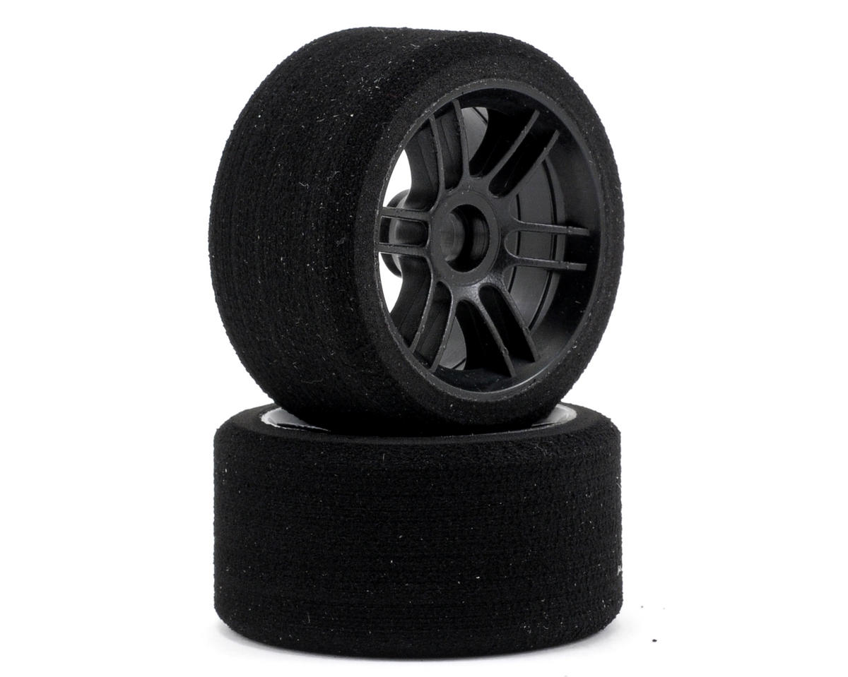 "Xceed RC ""Enneti"" 1/12 Carbon Carpet Front Tires (2) (Carbon Black) (40 Shore)"