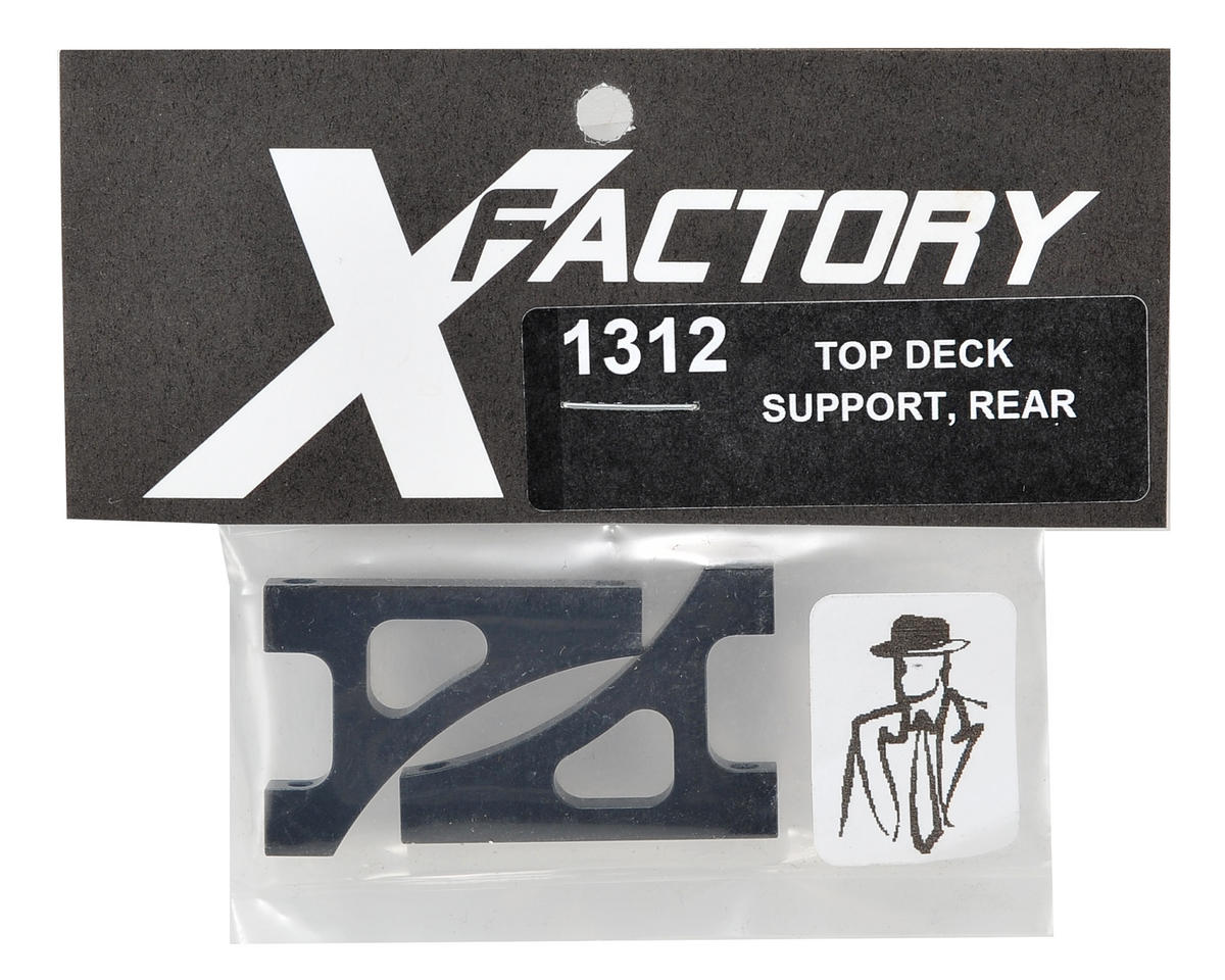 X Factory Rear Top Deck Support (Black)