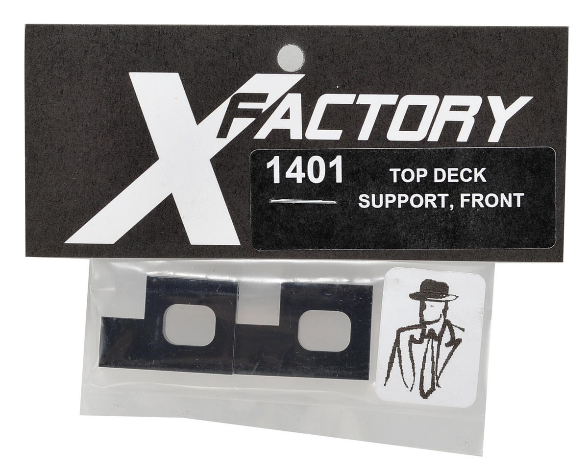 X Factory Front Top Deck Support (Black)