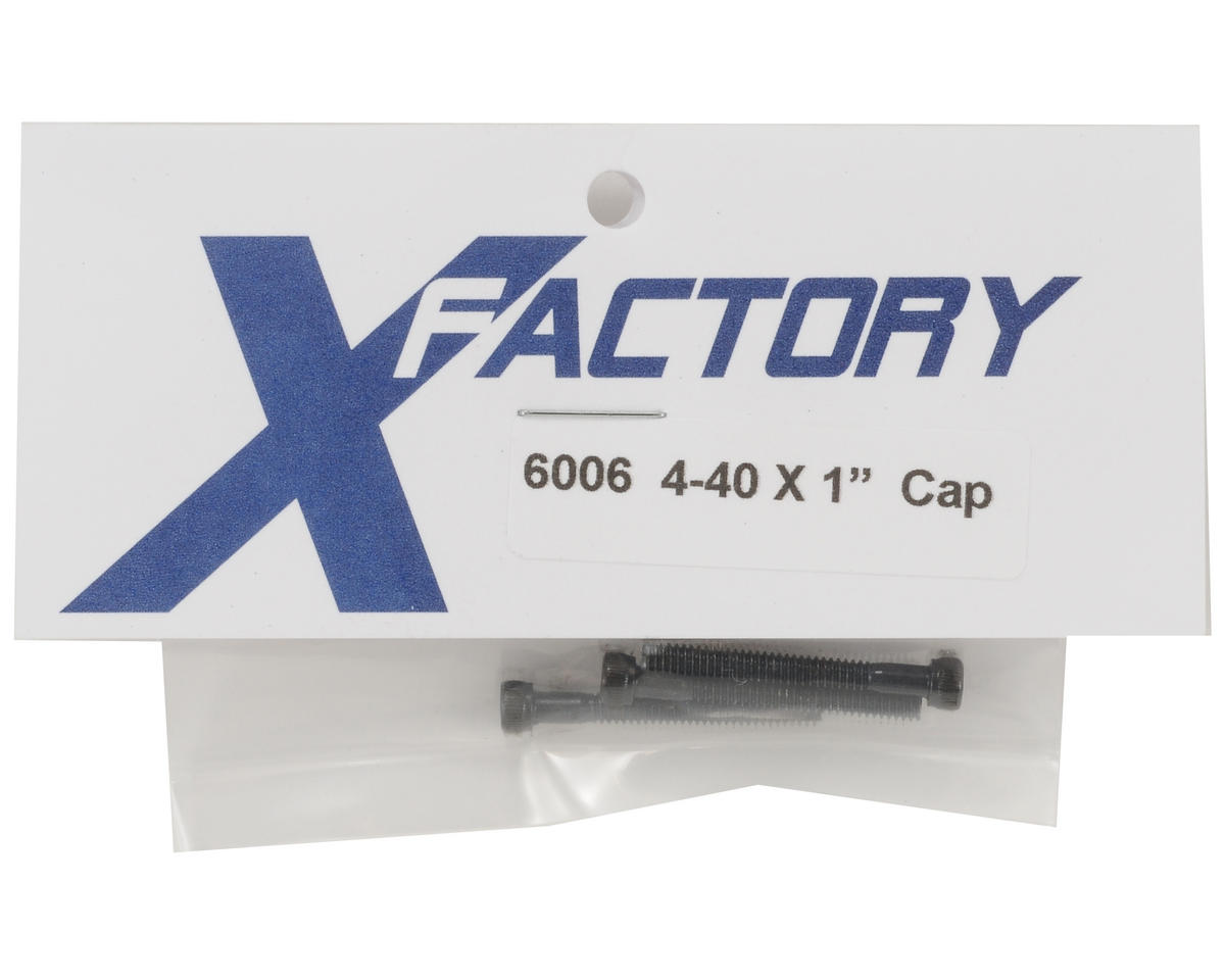 "X Factory 4-40x1"" Cap Head Screws (3)"