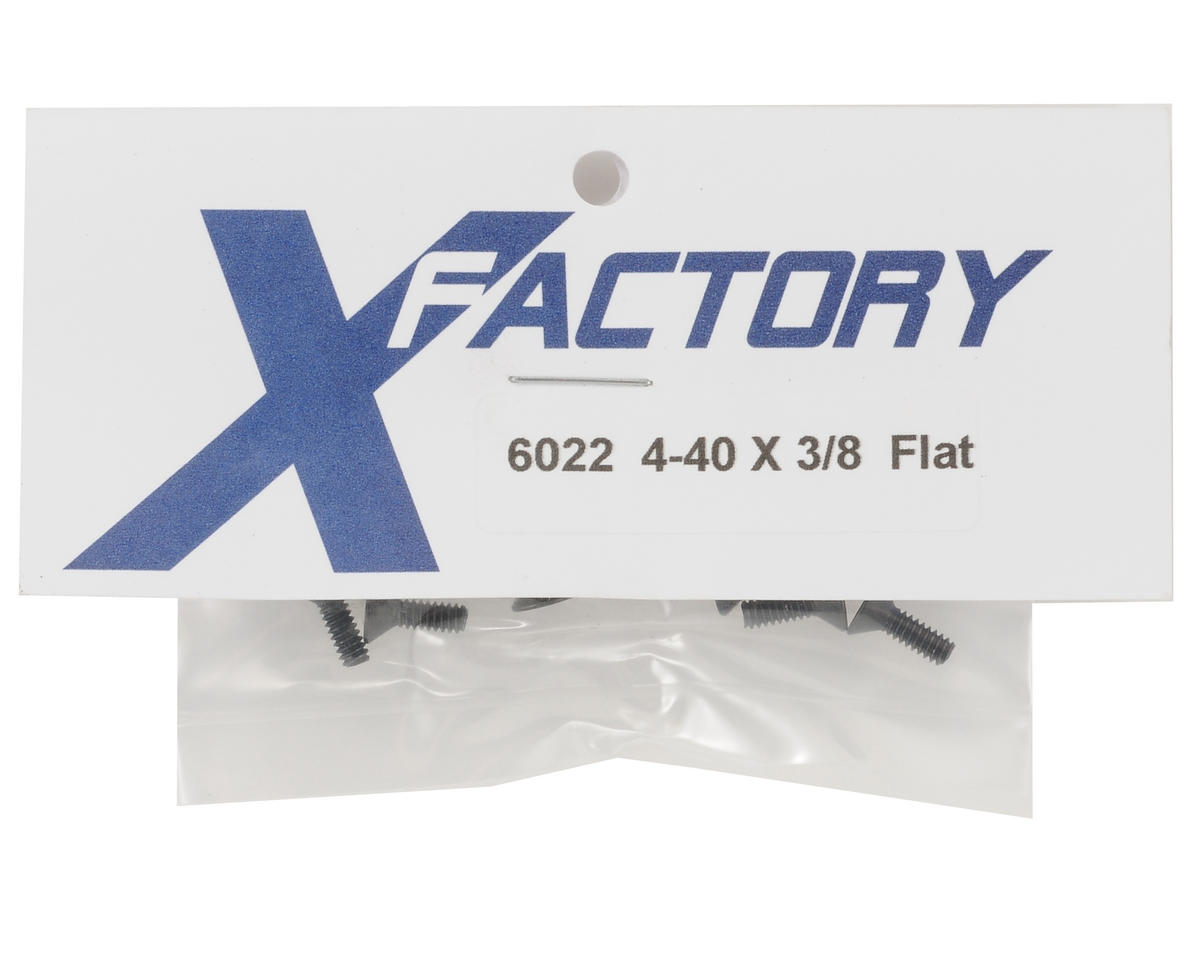 "4-40x3/8"" Flat Head Screws (6) by X Factory"