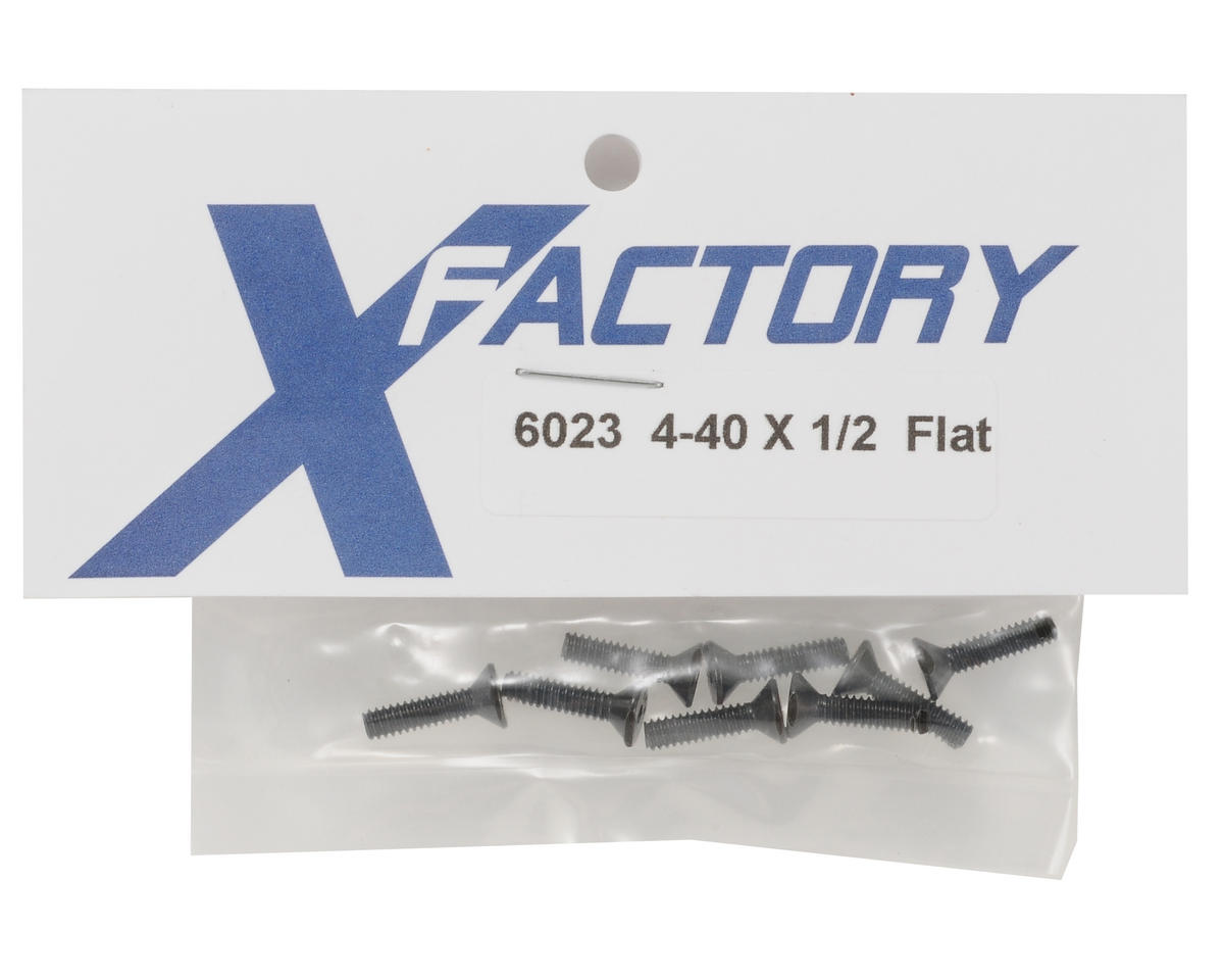 "X Factory 4-40x1/2"" Flat Head Screws (8)"