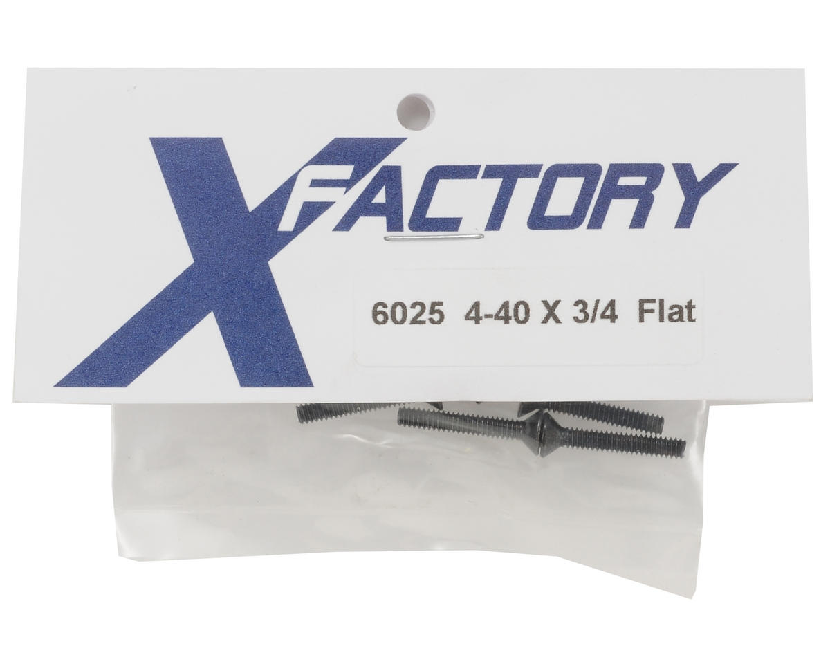 "X Factory 4-40x3/4"" Flat Head Screws (6)"