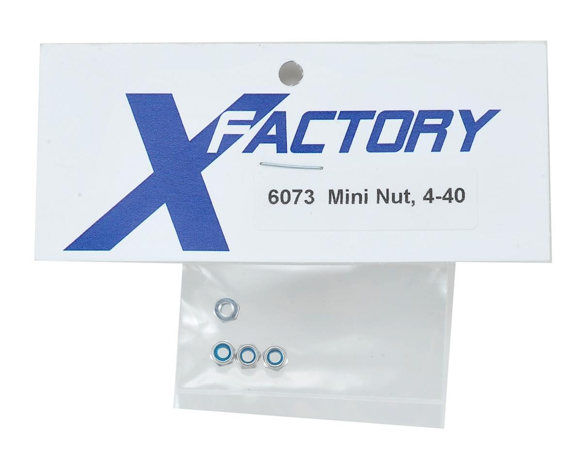 X Factory 4-40 Nylon Mini Locking Nut (4)