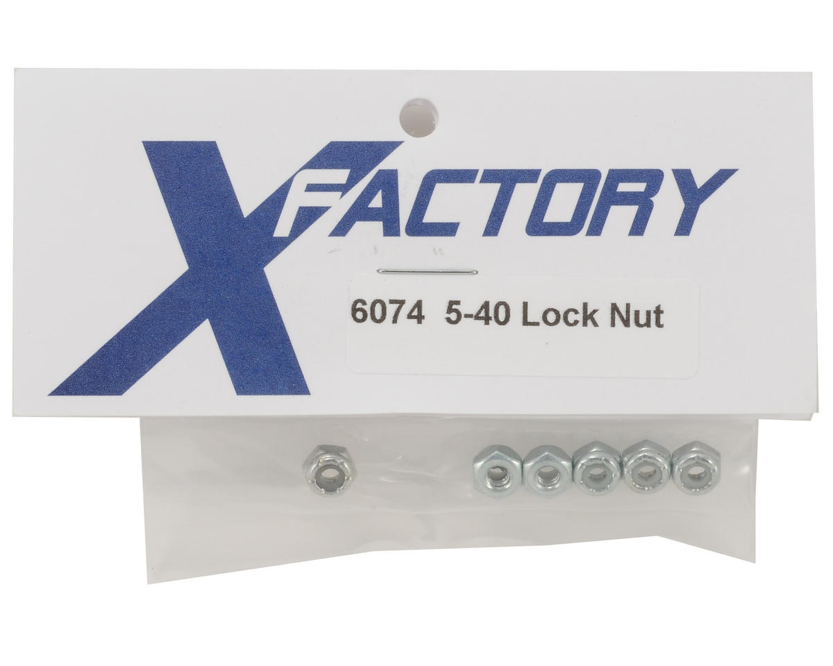X Factory 5-40 Locknut (6)