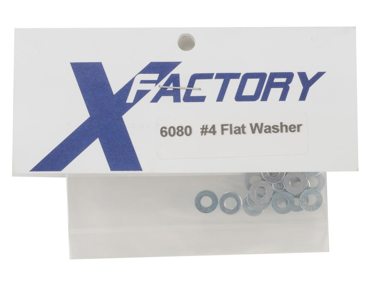 #4 Flat Washers (20) by X Factory