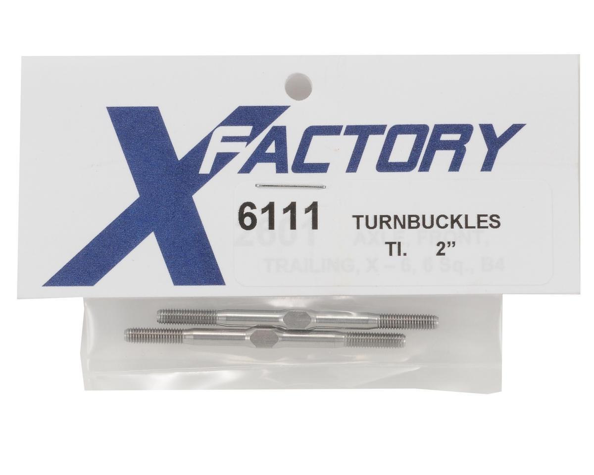 """X Factory 2"""" Titanium Turnbuckle Set (2)"""