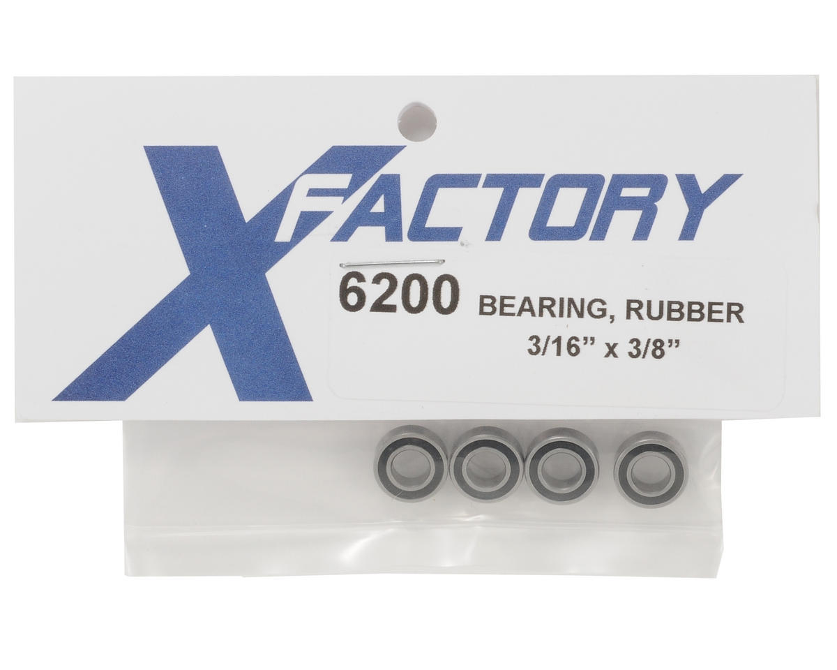 "X Factory 3/16x3/8"" Rubber Bearing (4)"