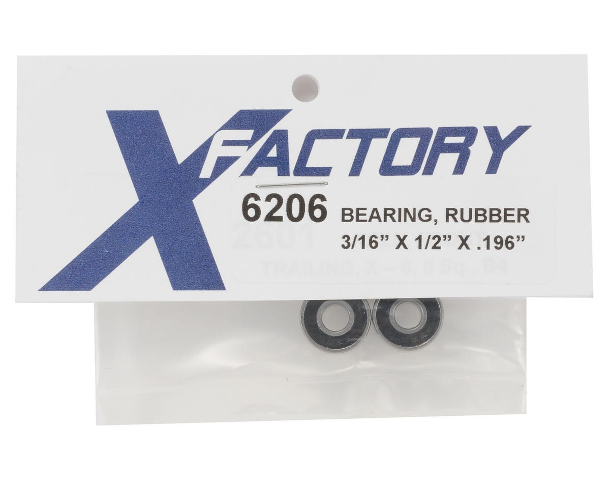 X Factory 1/4x1/2x.196 Rubber Bearing (2)