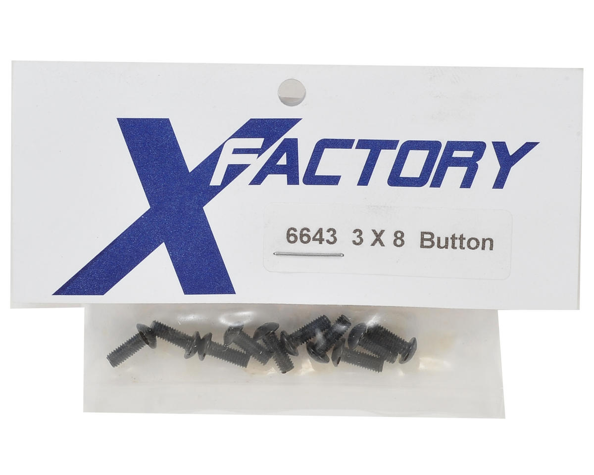 X Factory 3x8mm Button Head Screw (10)