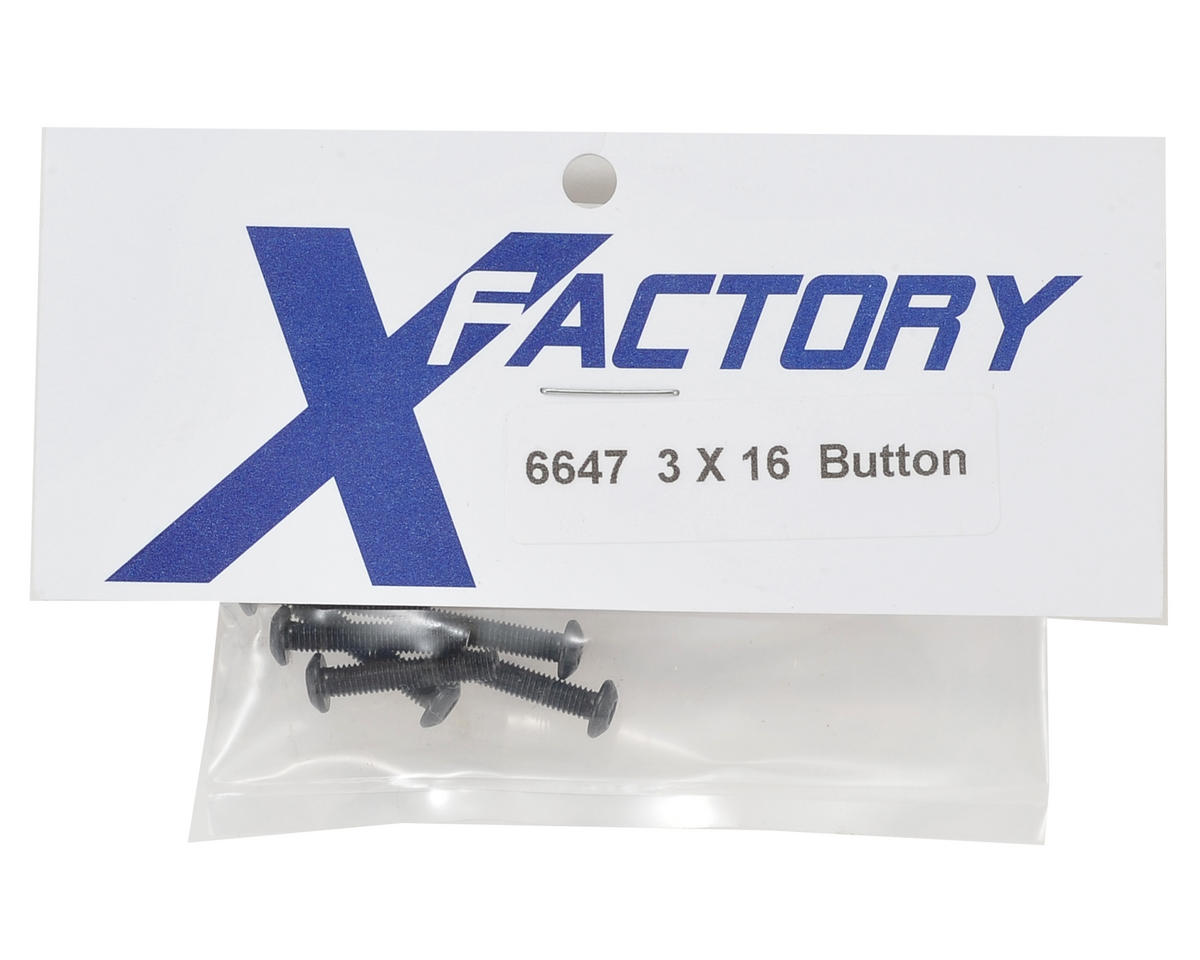 X Factory 3x16mm Button Head Screw (6)