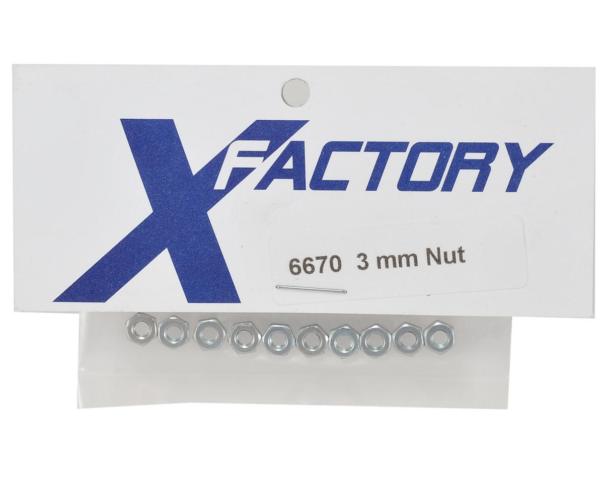 X Factory 3mm Nut (10)