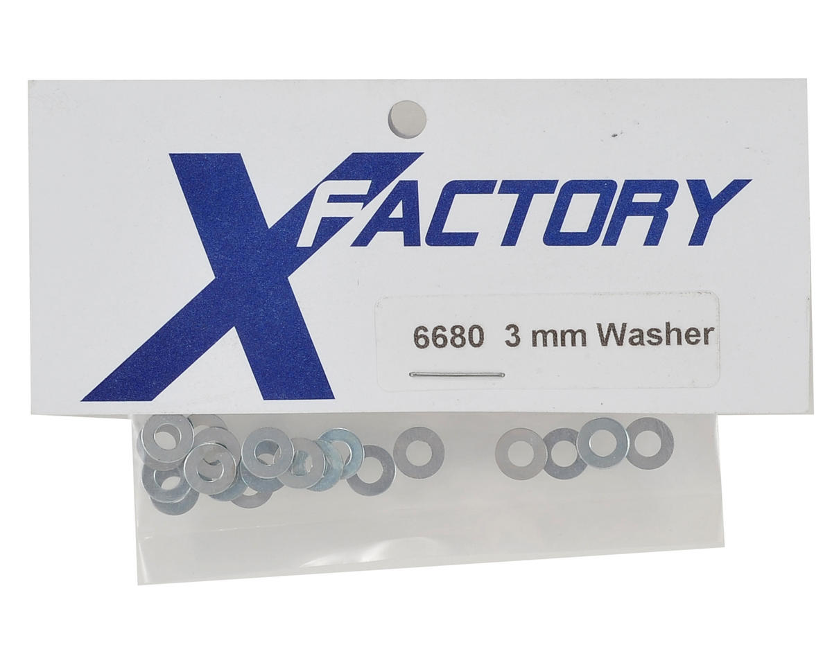 X Factory 3mm Flat Washer (20)