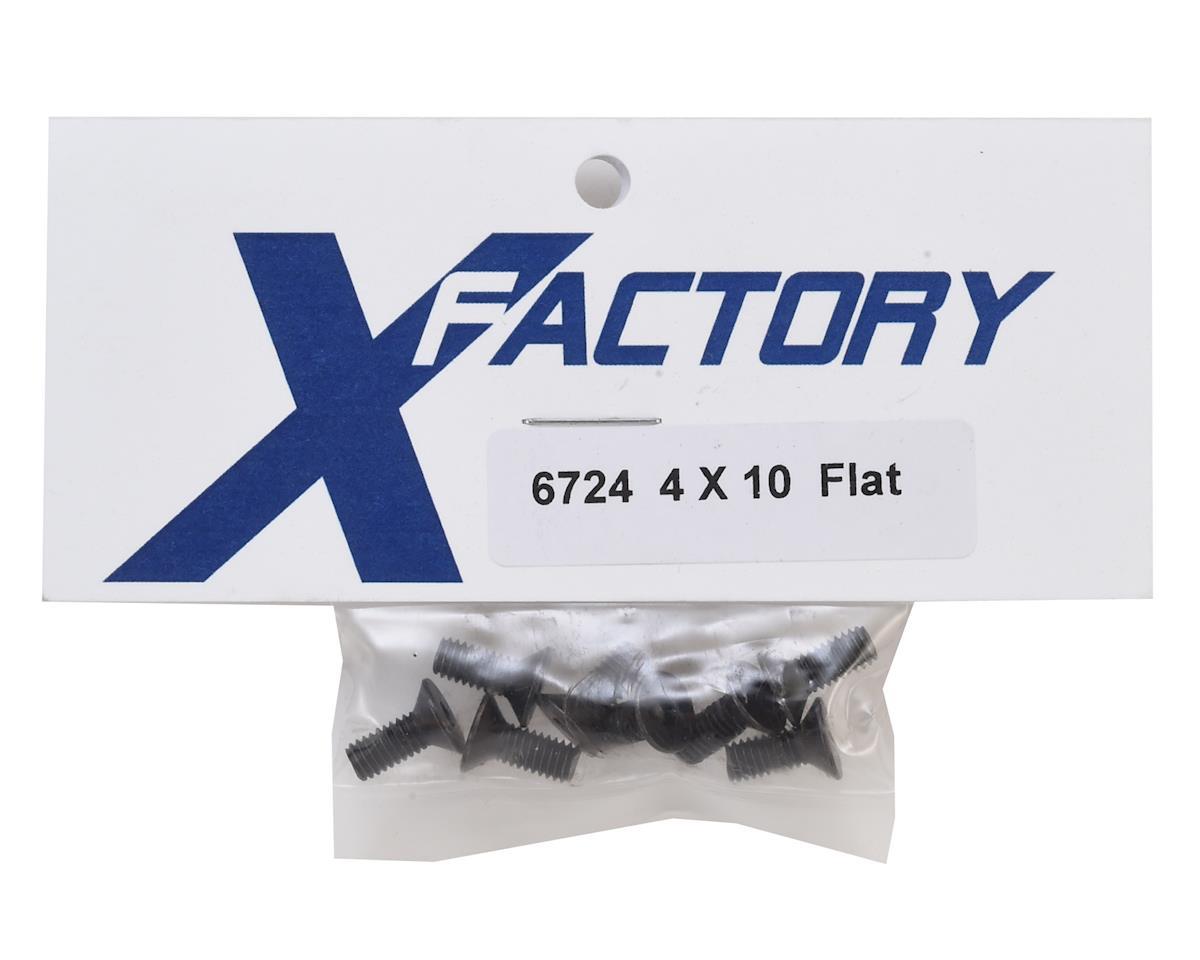 X Factory 4x10mm Flat Head Hex Screw (6)