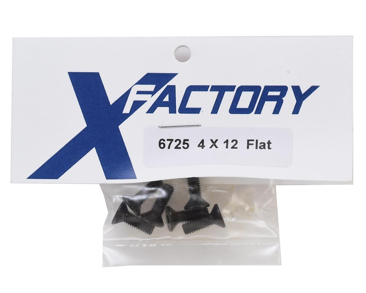 X Factory 4x12mm Flat Head Hex Screws (6)