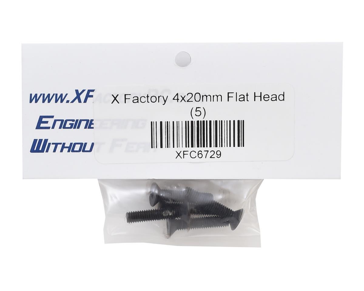 X Factory 4x20mm Flat Head Hex Screw (5)