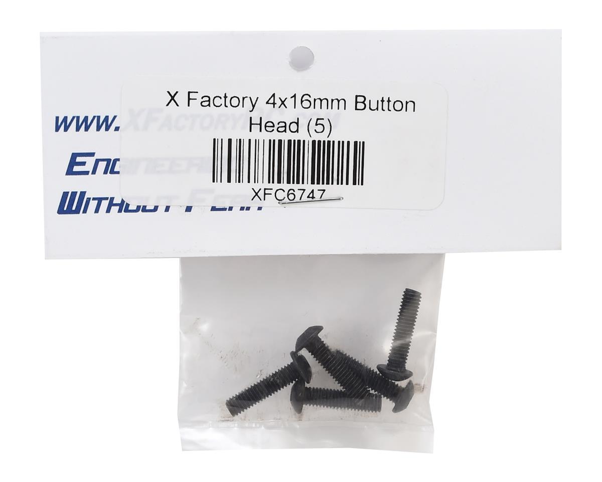 X Factory 4x16mm Button Head Hex Screw (5)