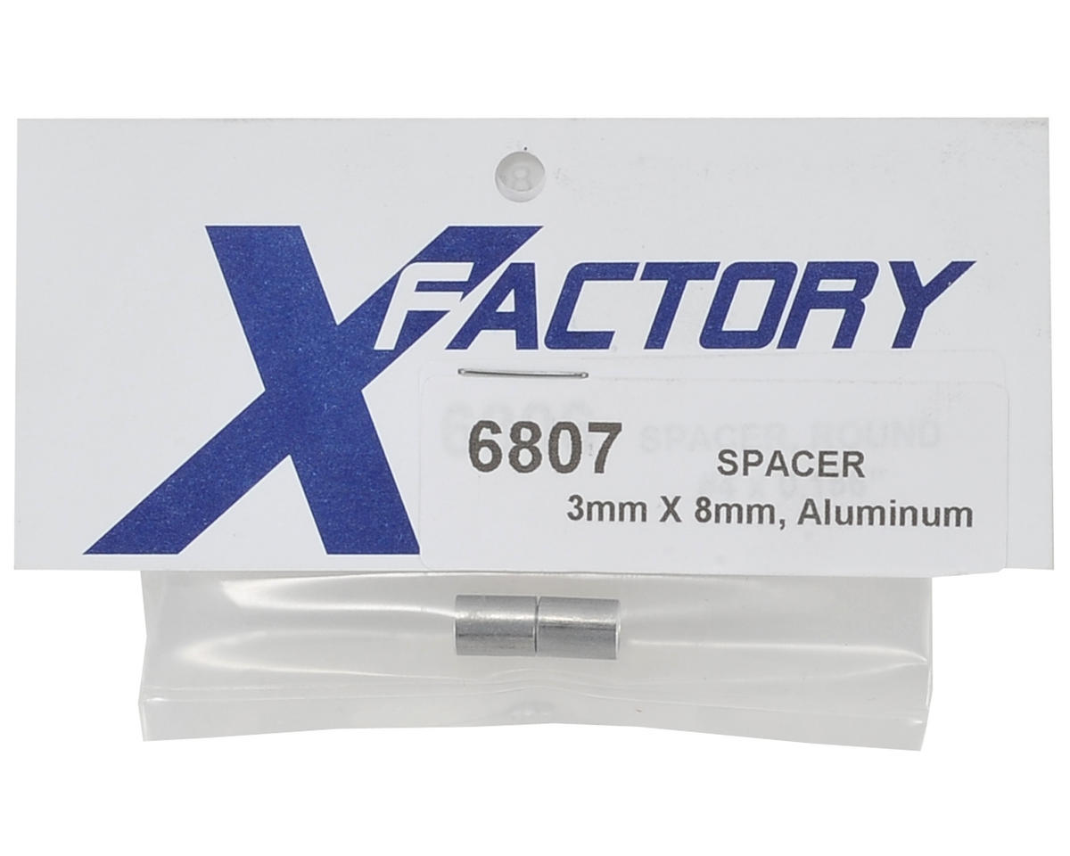 X Factory 3x8mm Long Aluminum Spacer (2)