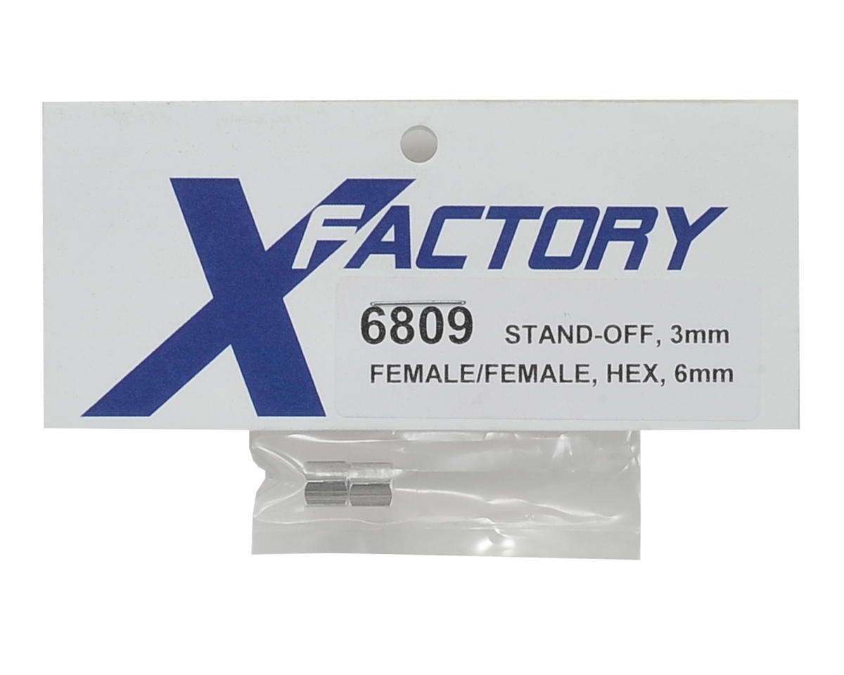 X Factory 3x6mm Hex Stand-Off (2)