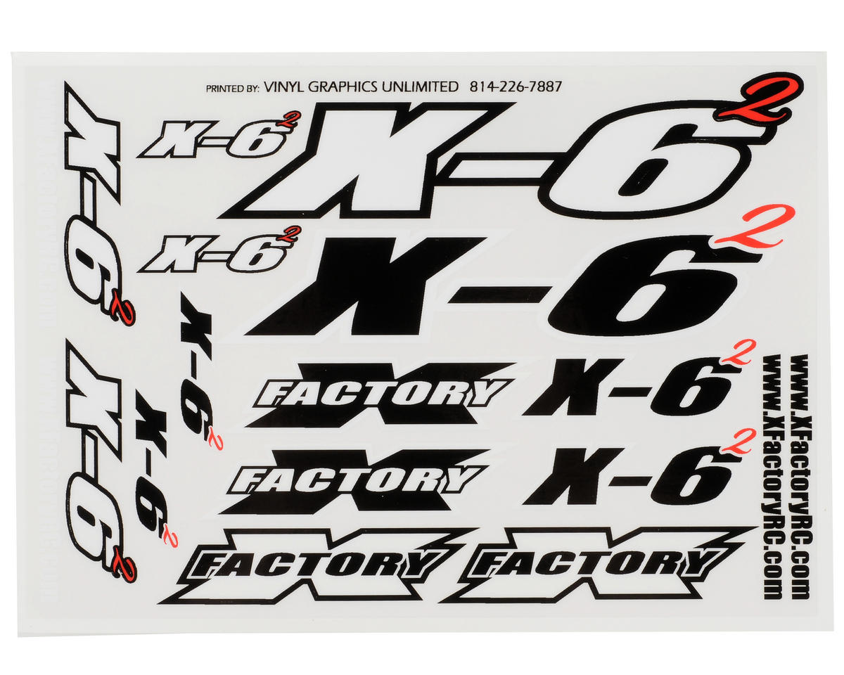 X Factory X-6 Squared Decal Sheet