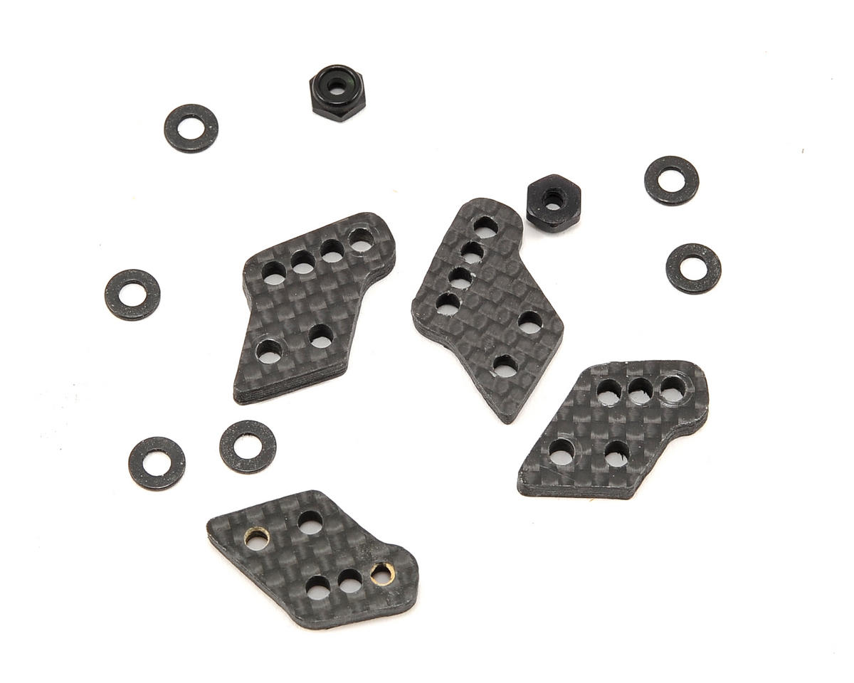 3mm Associated Carbon Fiber Rear Hub Tower Set (4) by X Factory