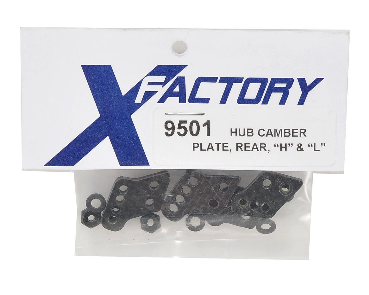 X Factory 3mm Associated Carbon Fiber Rear Hub Tower Set (4)