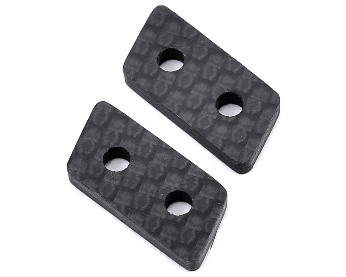 """X Factory """"Infinity"""" B5M Carbon Fiber Chassis Side Rail Spacer (2)"""