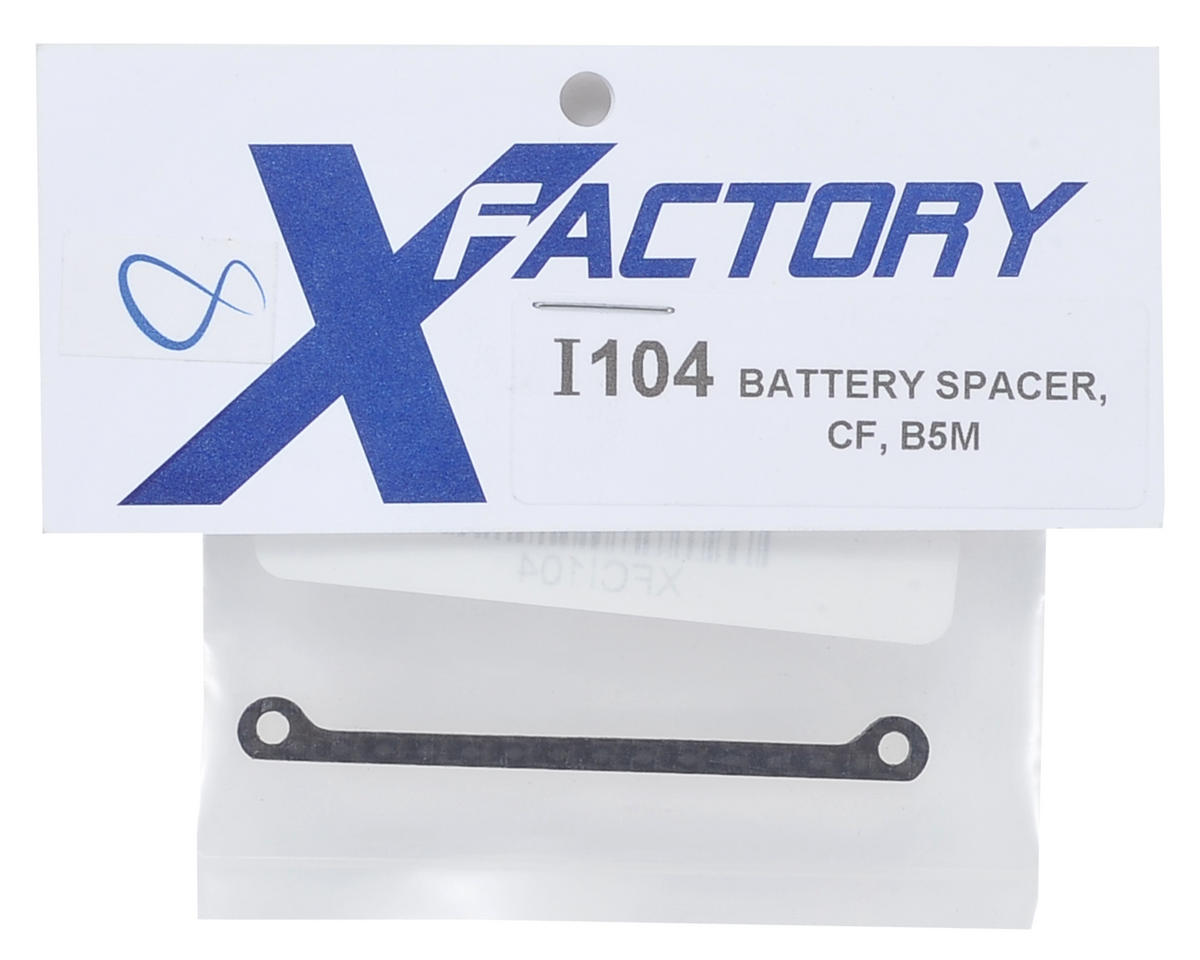 "X Factory ""Infinity"" B5M Carbon Fiber Chassis Battery Spacer"