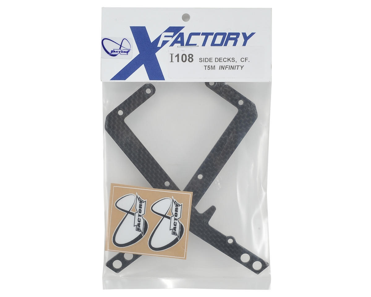"""X Factory """"Infinity"""" T5M Carbon Fiber Chassis Side Rail (2)"""