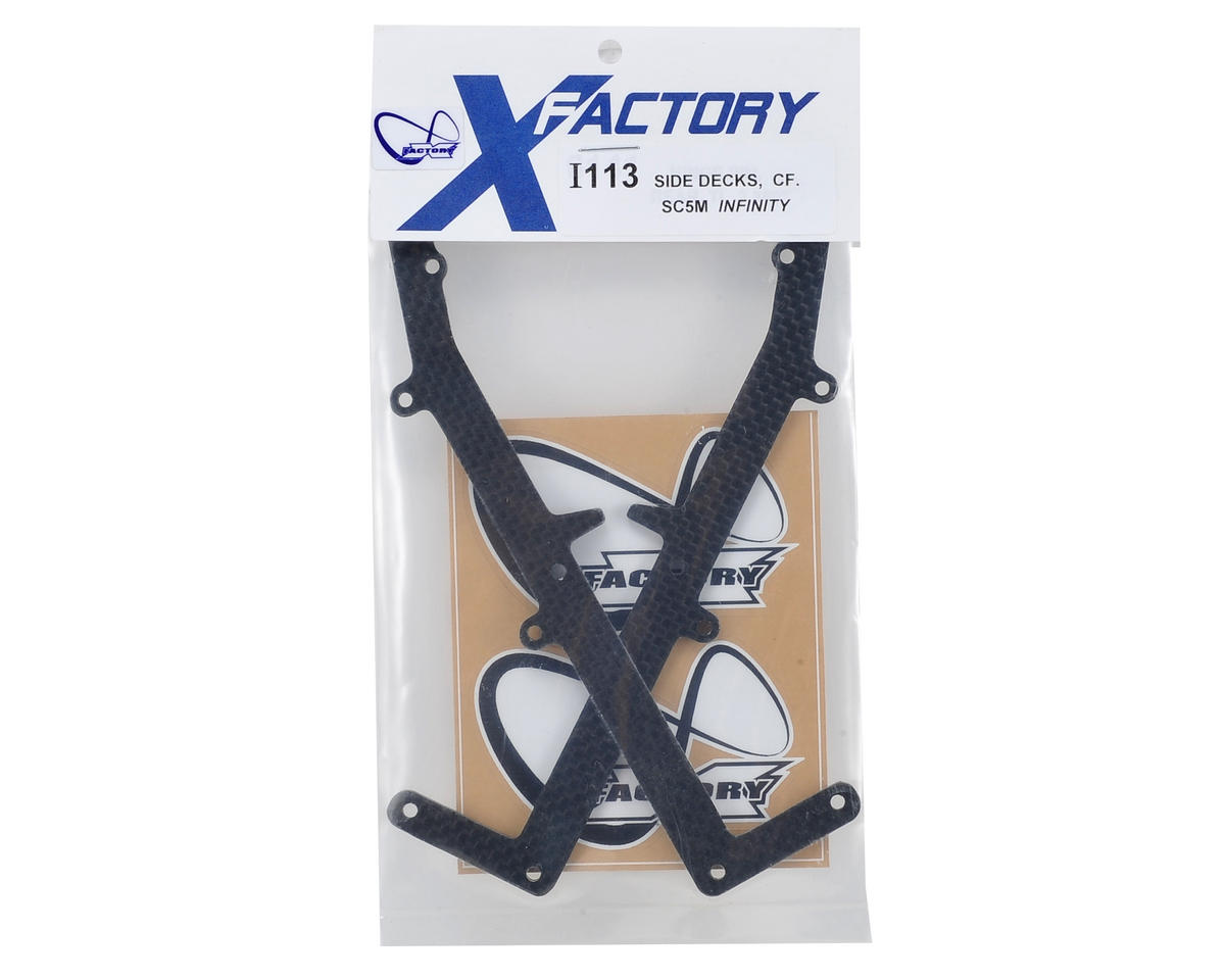 "X Factory ""Infinity"" SC5M Carbon Fiber Chassis Side Deck (2)"