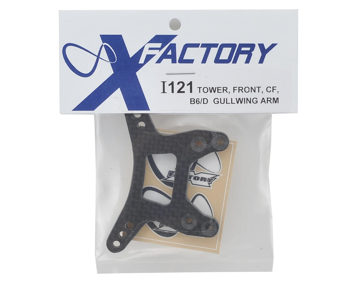 "X Factory ""Infinity"" B6D Carbon Fiber ""Gullwing"" Front Shock Tower"