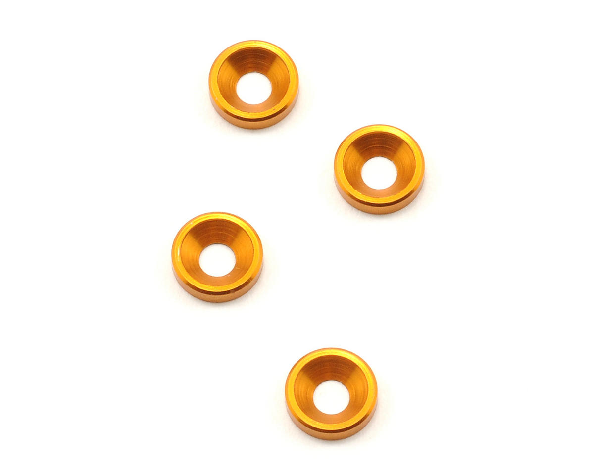 XRAY Aluminum Countersunk Quick Saver Shim (Orange) (4)