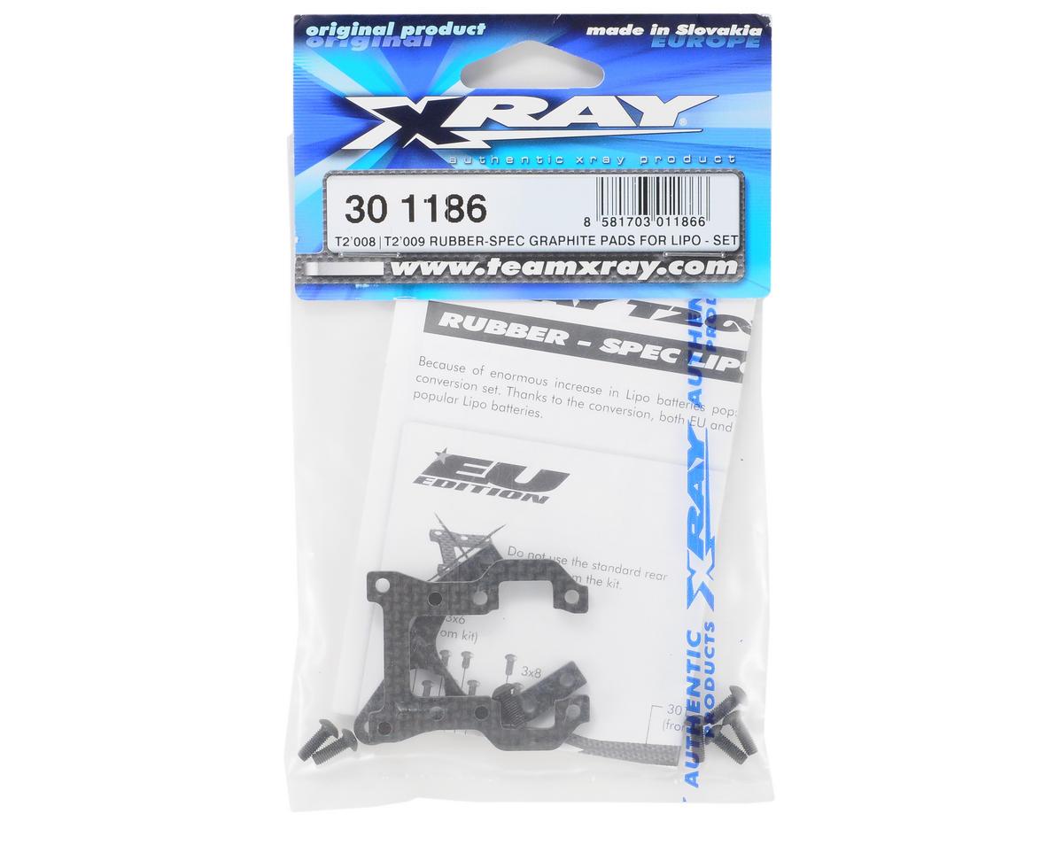 XRAY Rubber-Spec Graphite LiPo Pads (T2'008/T2'009)