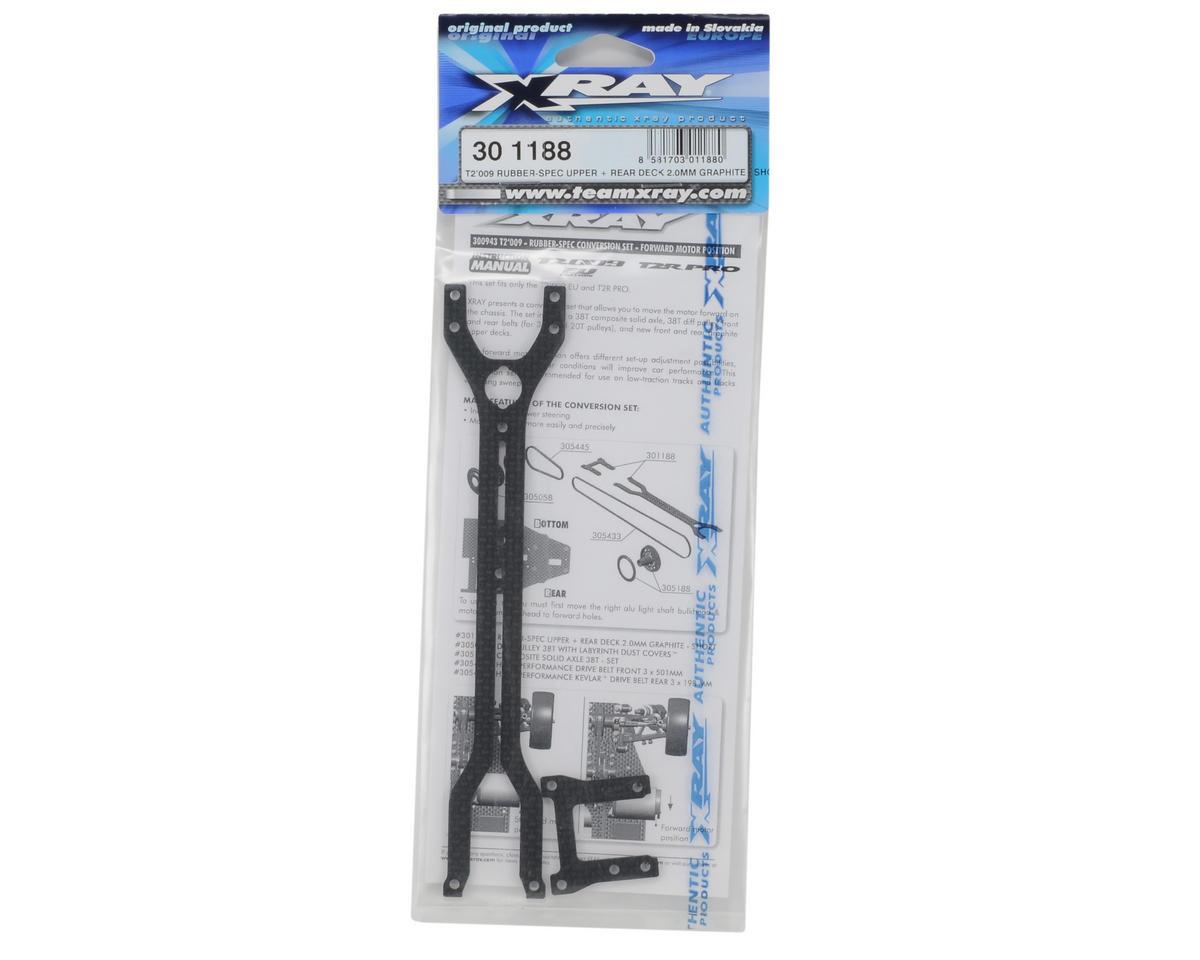 XRAY 2.0mm Graphite Rubber-Spec Short Upper & Rear Deck Set (T2'009)