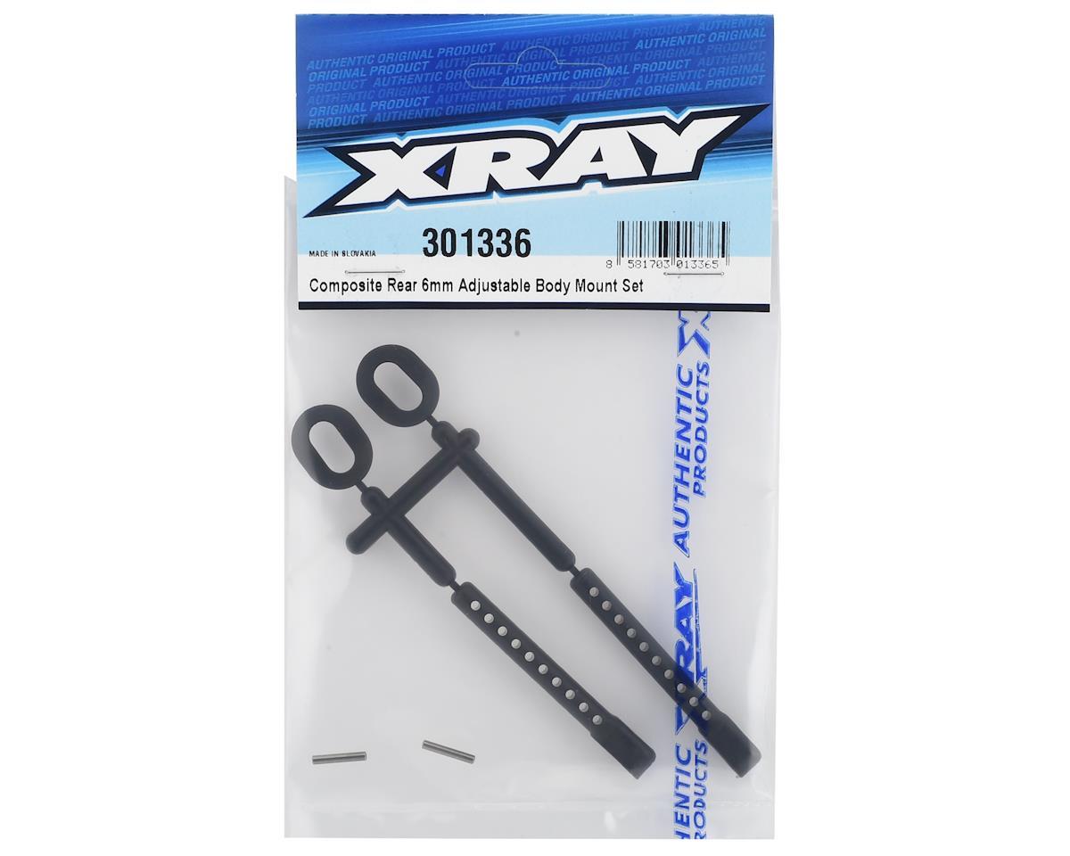 XRAY 6mm Rear Adjustable Body Mount Set