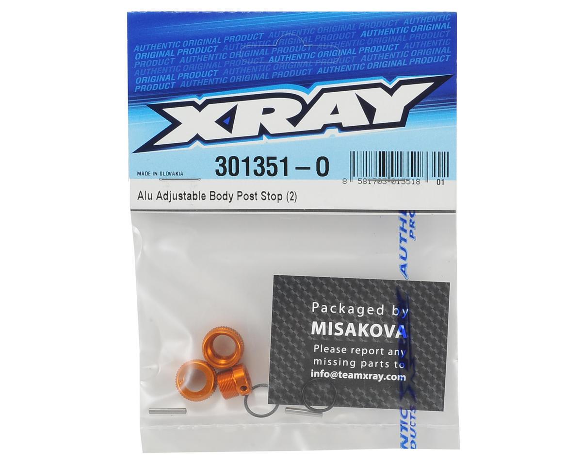 XRAY Aluminum Adjustable Body Post Stop (2)