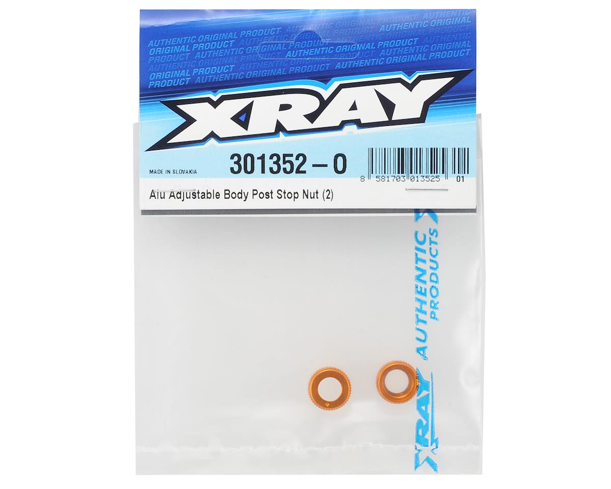 XRAY Aluminum Adjustable Body Post Stop Nut (2)