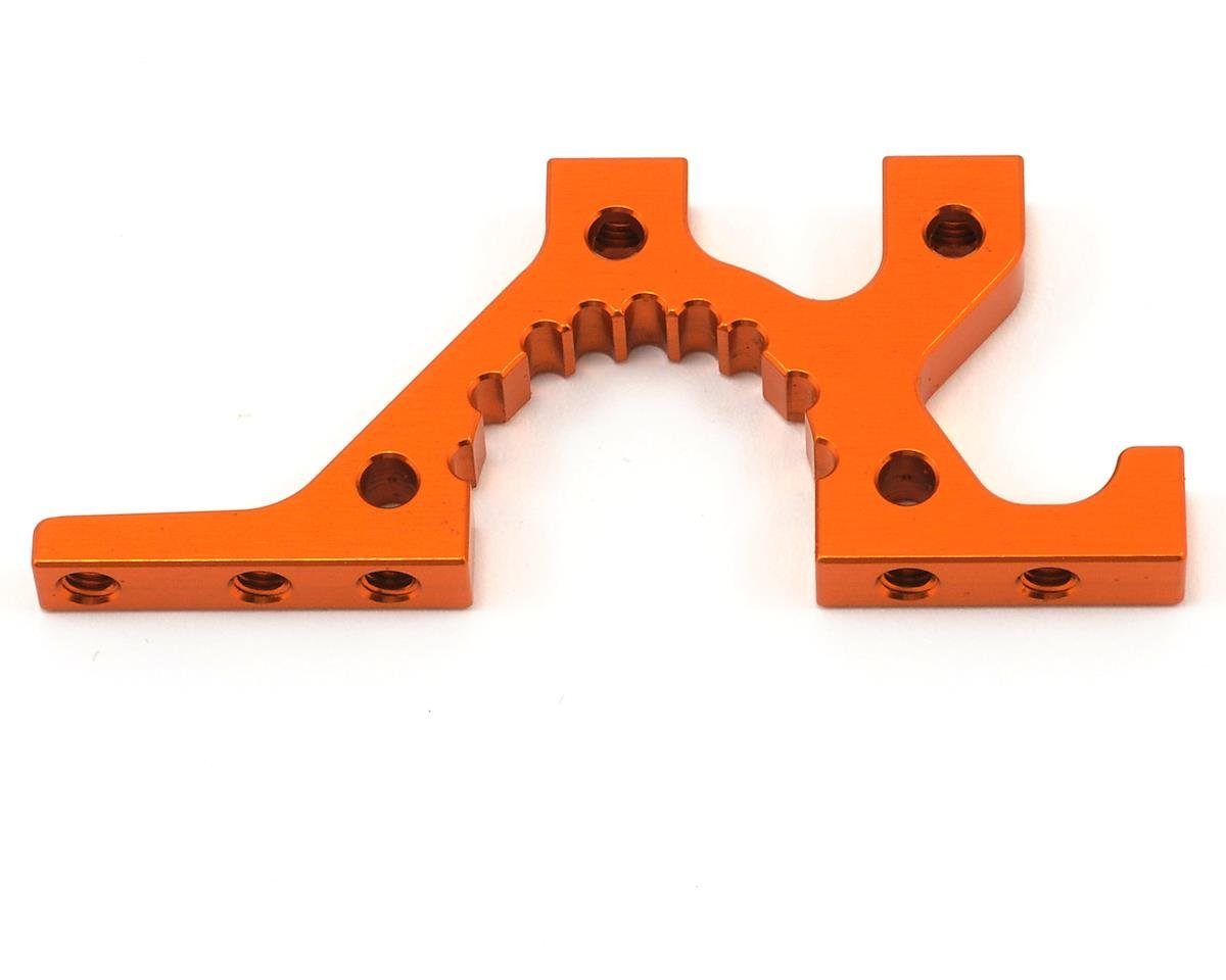 XRAY Aluminum Front Lower Suspension Adjustment Bulkhead (Orange) (1)